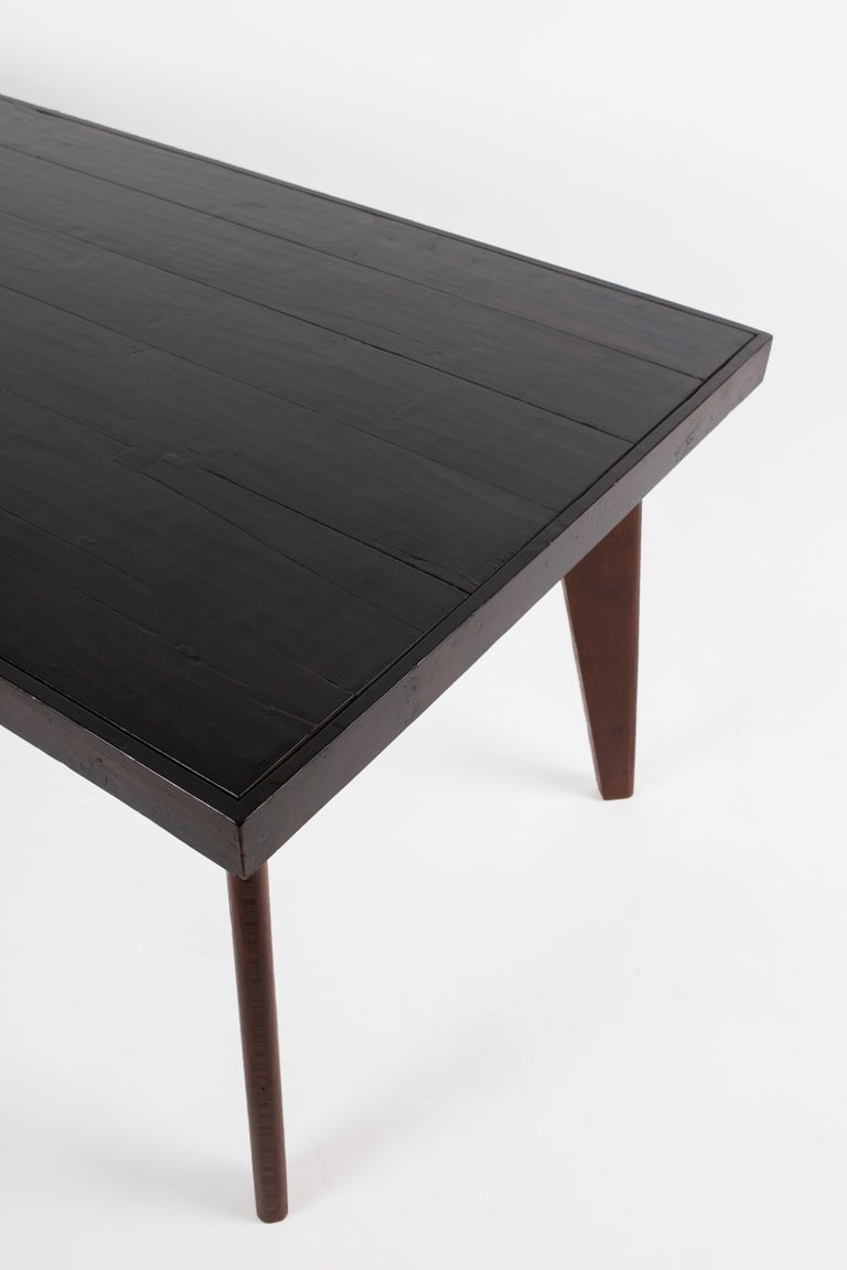 Stained Pierre Jeanneret Table, Circa 1960  For Sale