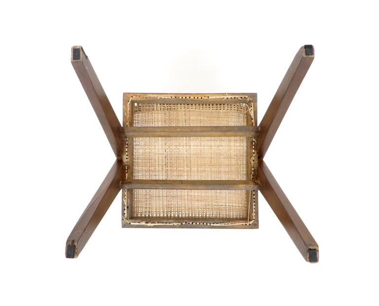 Pierre Jeanneret Teak and Cane Office Armchair from Chandigarh  For Sale 10