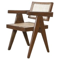 Pierre Jeanneret Teak Conference Chair from the City of Chandigarh, India