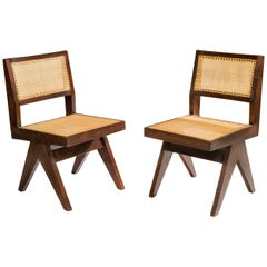Pierre Jeanneret, V Type Chairs, a Pair, 1958