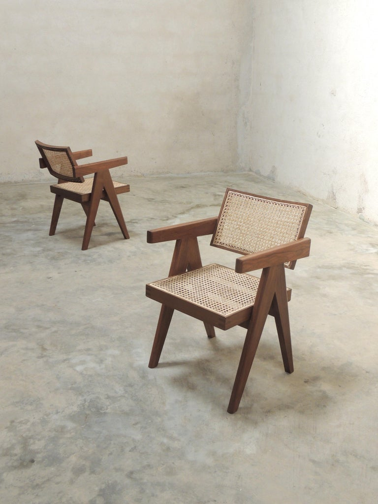 Pierre Jeanneret's Armchair, Hand-Sculpted Contemporary Reedition 11