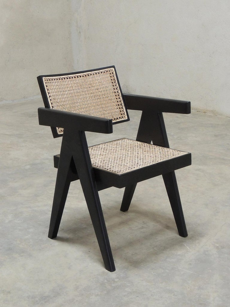 Pierre Jeanneret's Armchair, Hand-Sculpted Contemporary Reedition 2