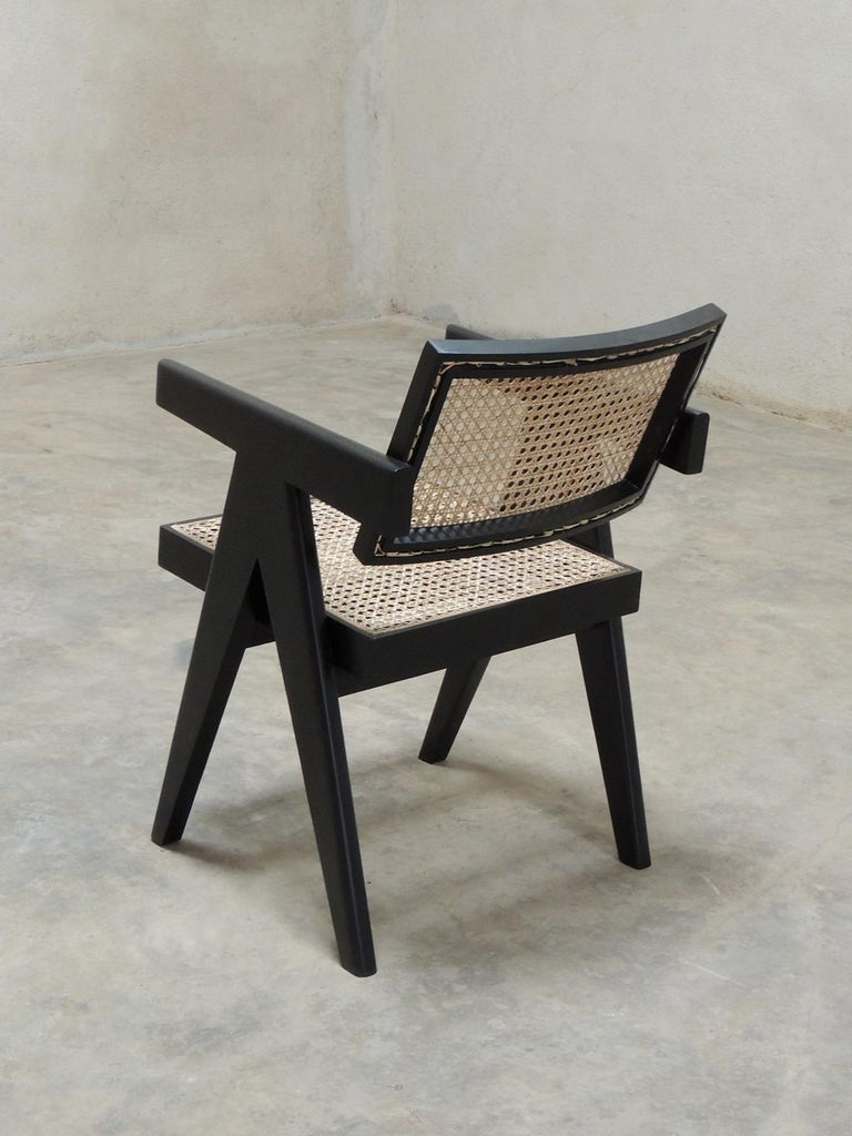 Pierre Jeanneret's Armchair, Hand-Sculpted Contemporary Reedition 4