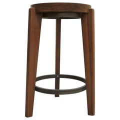 Pierre Jeanneret's Side Table/Stool, Hand-Sculpted Contemporary Reedition