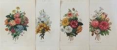 Set of Four  Bouquets by  Pierre-Joseph Redouté