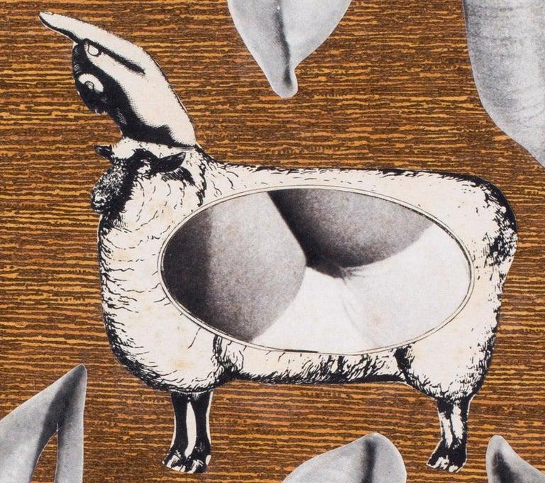 1960's French Pop Art collage 'La Pentacote' For Sale 2