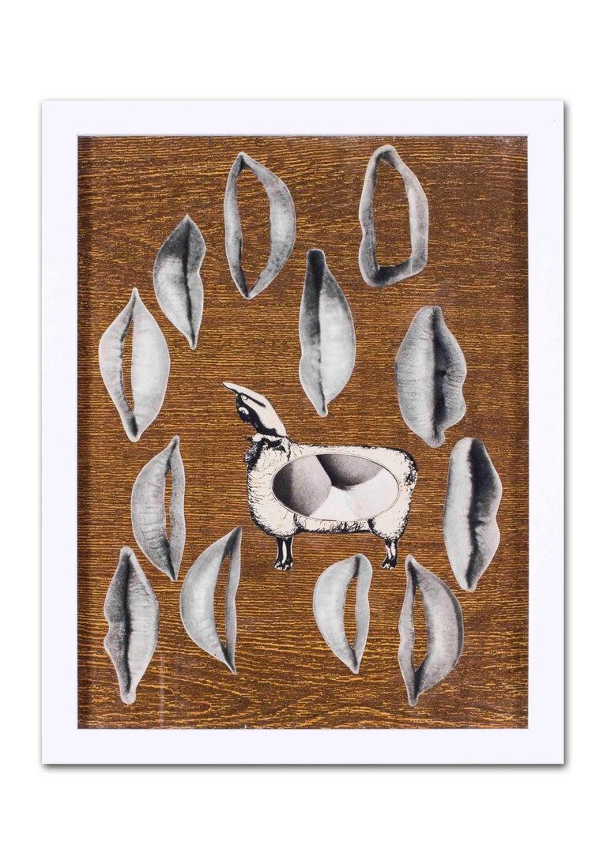 1960's French Pop Art collage 'La Pentacote' For Sale 3