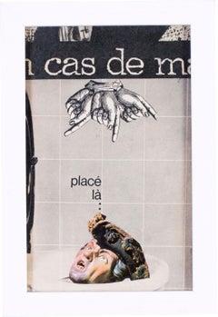 French 1960s Pop Art Collage 'En cas de Malheur' In case of misfortune, 1966'