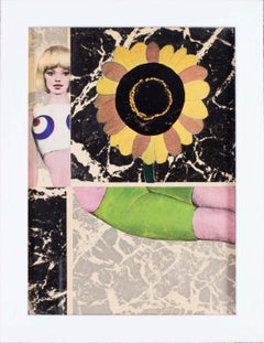 French, 1960s Pop Art Collage 'sunflower', 1966