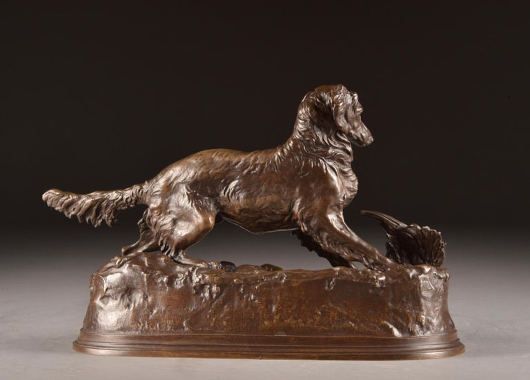 Pierre Jules Mêne '1810-1879', Sculpture, Beautifully Executed Image of a Dog For Sale 4