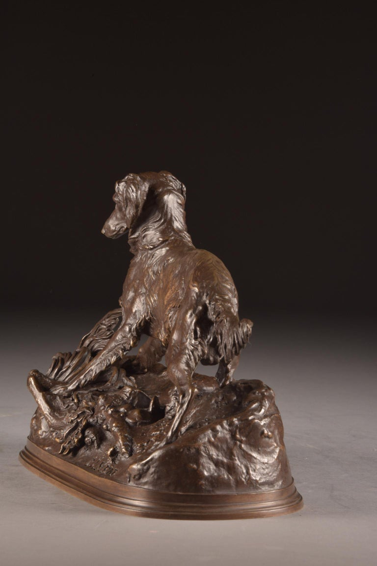 Pierre Jules Mêne '1810-1879', Sculpture, Beautifully Executed Image of a Dog For Sale 5