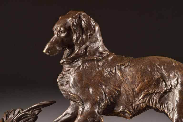 Pierre Jules Mêne '1810-1879', Sculpture, Beautifully Executed Image of a Dog For Sale 6