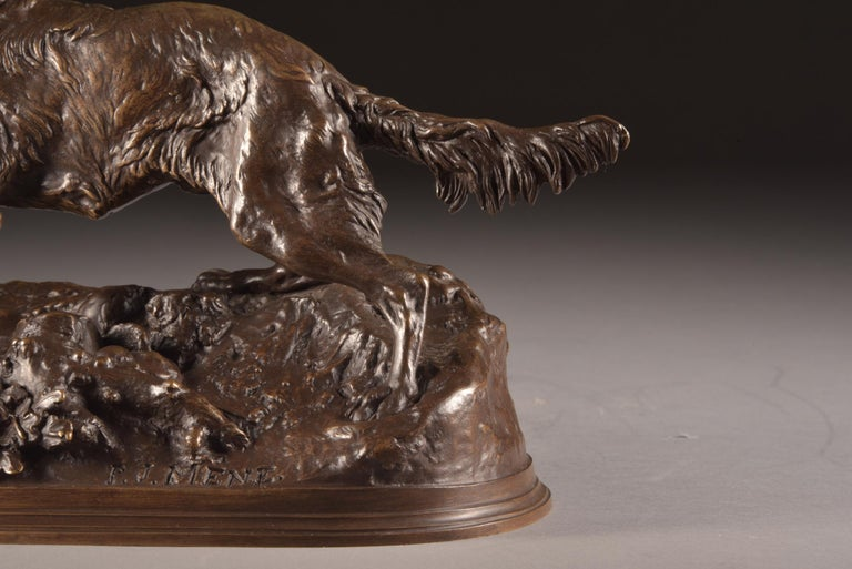 Pierre Jules Mêne '1810-1879', Sculpture, Beautifully Executed Image of a Dog For Sale 7
