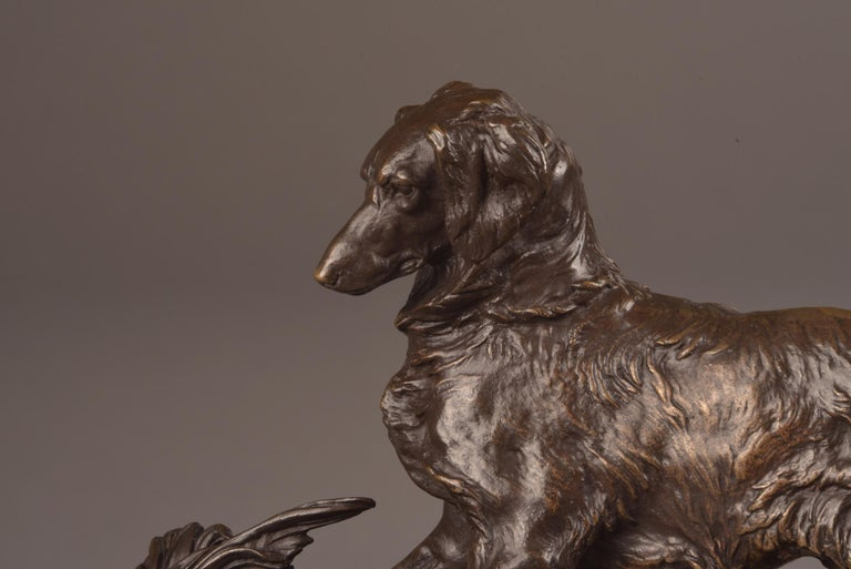 Charles X Pierre Jules Mêne '1810-1879', Sculpture, Beautifully Executed Image of a Dog For Sale
