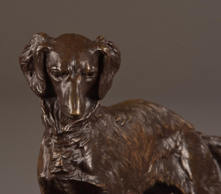 Pierre Jules Mêne '1810-1879', Sculpture, Beautifully Executed Image of a Dog In Good Condition For Sale In Ulestraten, Limburg