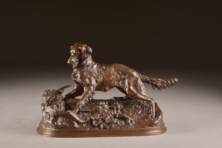 19th Century Pierre Jules Mêne '1810-1879', Sculpture, Beautifully Executed Image of a Dog For Sale