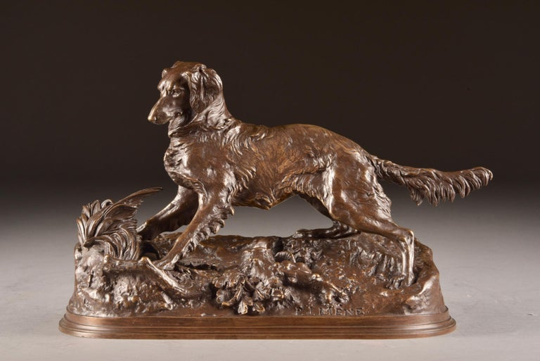 Bronze Pierre Jules Mêne '1810-1879', Sculpture, Beautifully Executed Image of a Dog For Sale