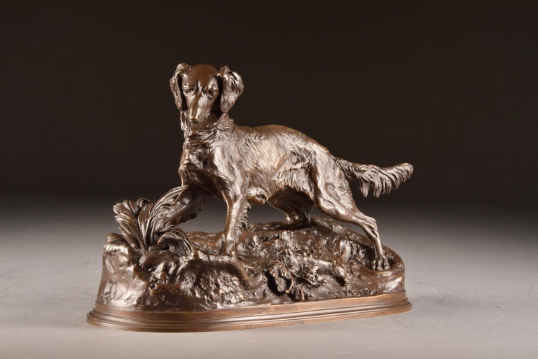 Pierre Jules Mêne '1810-1879', Sculpture, Beautifully Executed Image of a Dog For Sale 2