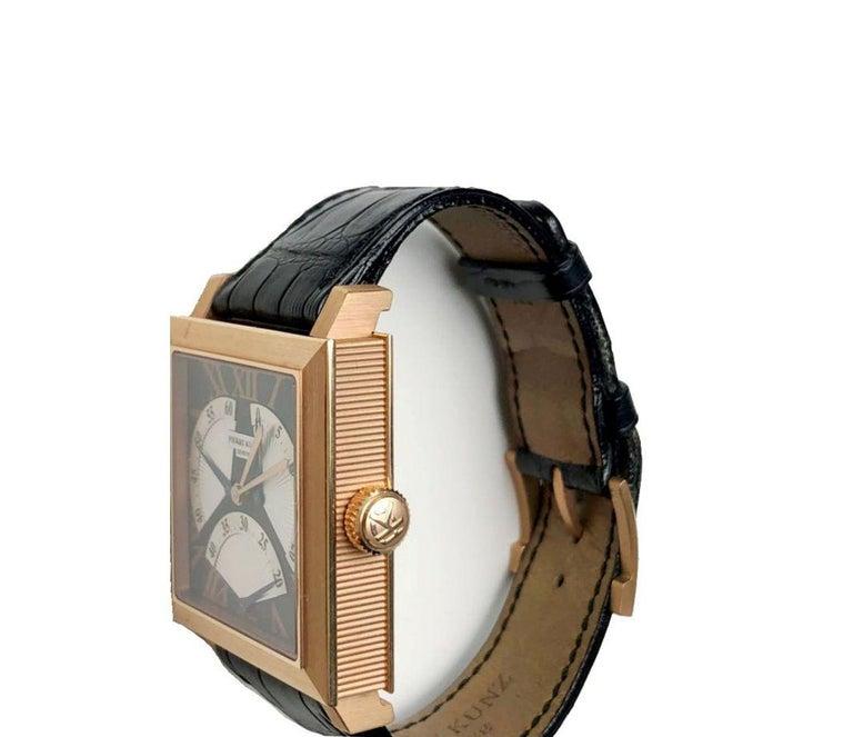 Pierre Kunz Spirit of Challenge Pink Gold Triple Retrograde Wristwatch In Good Condition For Sale In Switzerland, CH