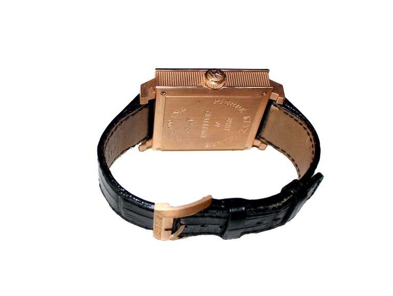 Women's or Men's Pierre Kunz Spirit of Challenge Pink Gold Triple Retrograde Wristwatch For Sale