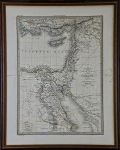 """Map of the Holy Land """"Carte de la Syrie et de l'Egypte"""" by Pierre Lapie"""