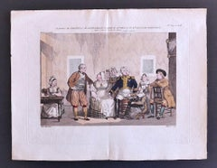 Theatre of Vaudeville - Original Lithograph by P. Maleuvre - Late 18th Century