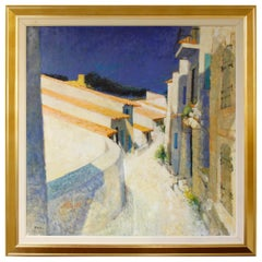 "Pierre Neveu Oil on Canvas ""Cucuron"""