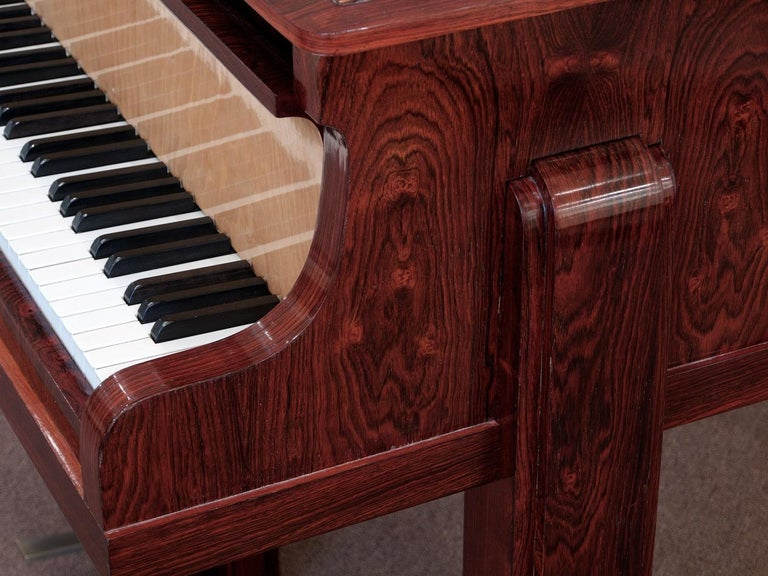 French Pierre-Paul Montagnac Modernist Piano For Sale