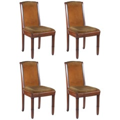 Pierre-Paul Montagnac Set of 4 Dining Chairs