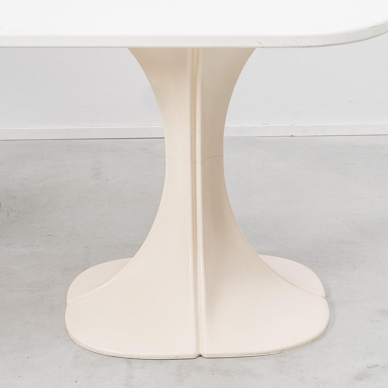 Belgian Pierre Paulin 8810 Flower Chair and Table Boro, Beligium, 1970s For Sale