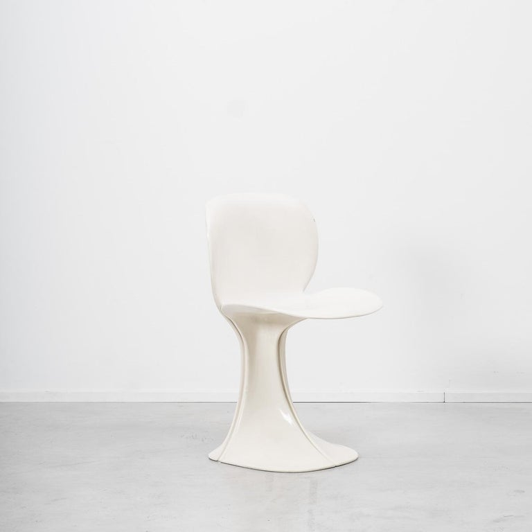 Plastic Pierre Paulin 8810 Flower Chair and Table Boro, Beligium, 1970s For Sale
