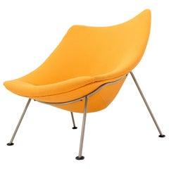 Pierre Paulin Artifort Wool Upholstery Oyster Chair Orange Wool Upholstery