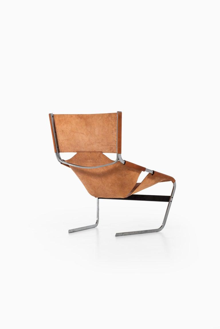 Steel Pierre Paulin Easy Chair Model F-444 Produced by Artifort in Netherlands For Sale