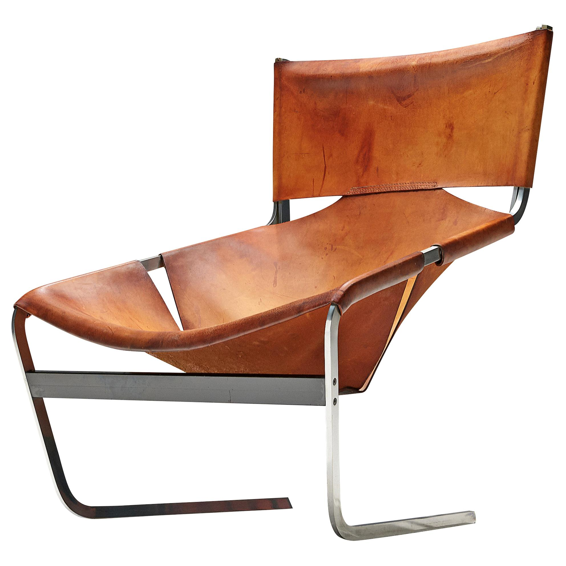 Pierre Paulin 'F-444' Easy Chair in Cognac Leather