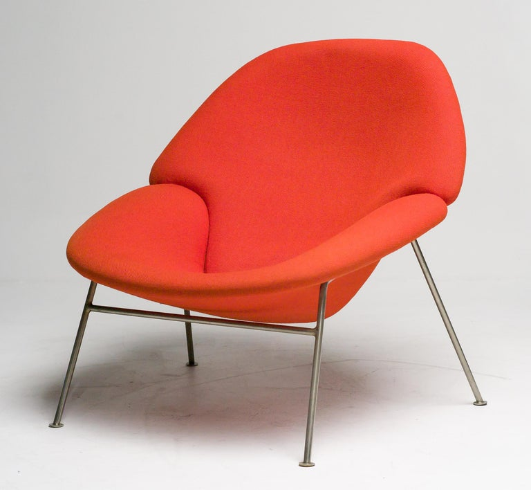 Plated Pierre Paulin F555 Lounge Chair For Sale
