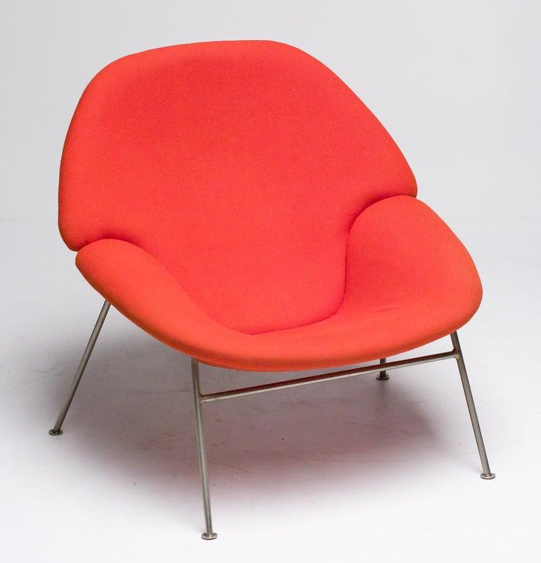 Nickel Pierre Paulin F555 Lounge Chair For Sale