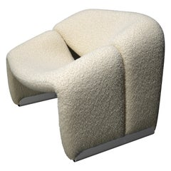Pierre Paulin f598 Groovy Armchair for Artifort New Upholstery, Netherlands 1972