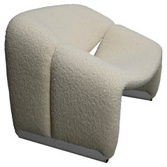 Pierre Paulin f598 Groovy Armchair for Artifort New Upholstery Netherlands, 1972