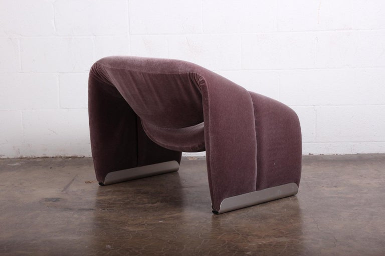 Mohair Pierre Paulin F598 Groovy Lounge Chair for Artifort For Sale