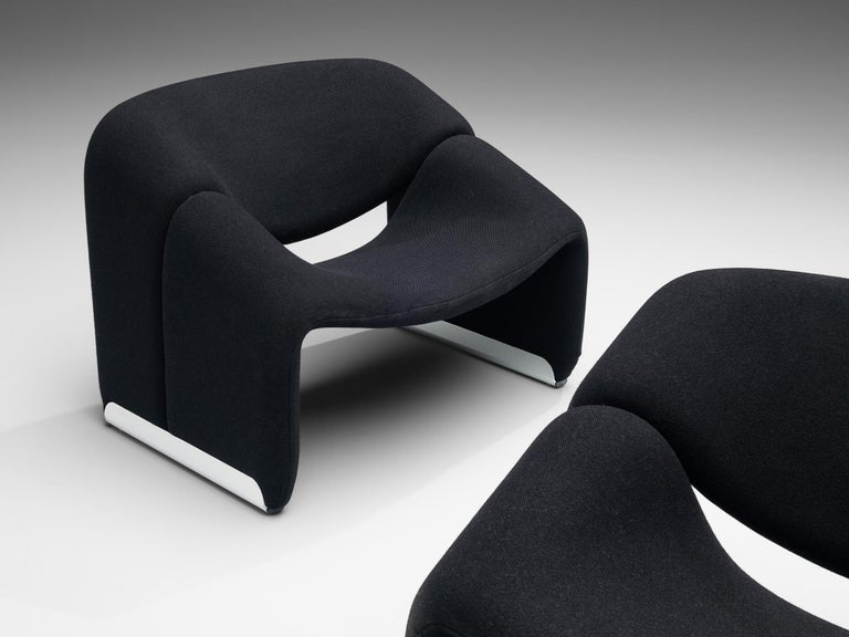 Post-Modern Pierre Paulin for Artifort Pair of 'Groovy' Lounge Chairs For Sale
