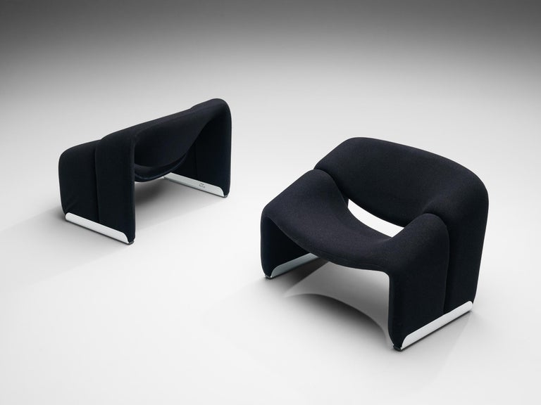 Dutch Pierre Paulin for Artifort Pair of 'Groovy' Lounge Chairs For Sale
