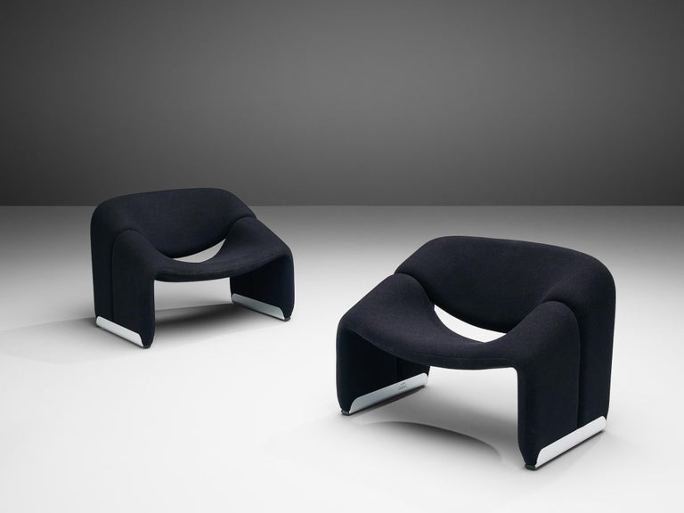 Late 20th Century Pierre Paulin for Artifort Pair of 'Groovy' Lounge Chairs For Sale