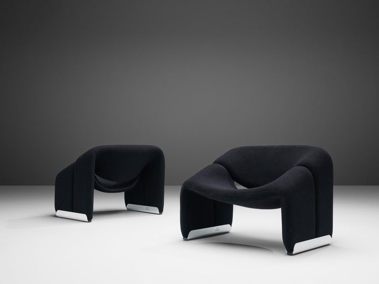 Pierre Paulin for Artifort Pair of 'Groovy' Lounge Chairs For Sale 1