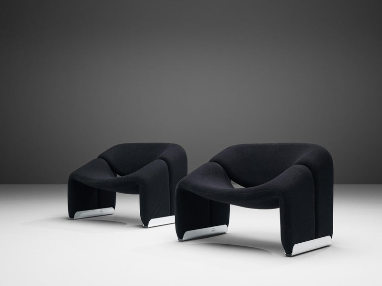 Pierre Paulin for Artifort Pair of 'Groovy' Lounge Chairs For Sale 2