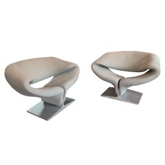 "Pierre Paulin for Artifort ""Ribbon"" Lounge Chairs"