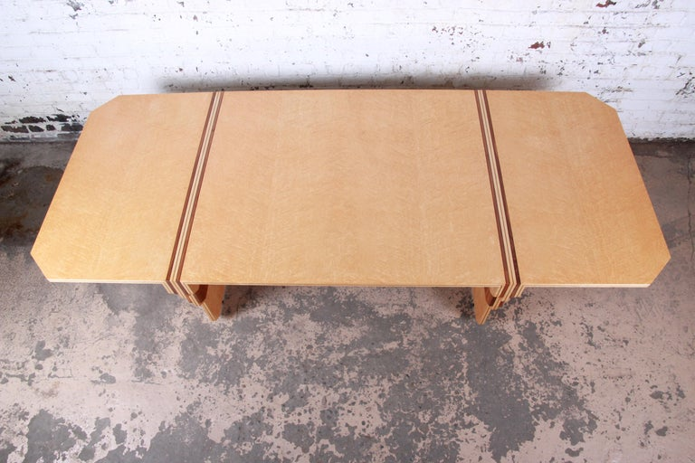 Pierre Paulin for Baker Bird's-Eye Maple Art Deco Conference or Dining Table For Sale 4