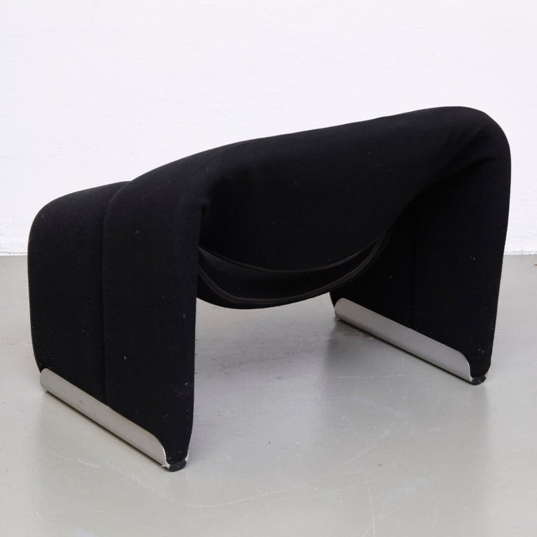 Pierre Paulin, Mid Century Modern, Black Upholstered Groovy Lounge Chair, 1970 For Sale 3