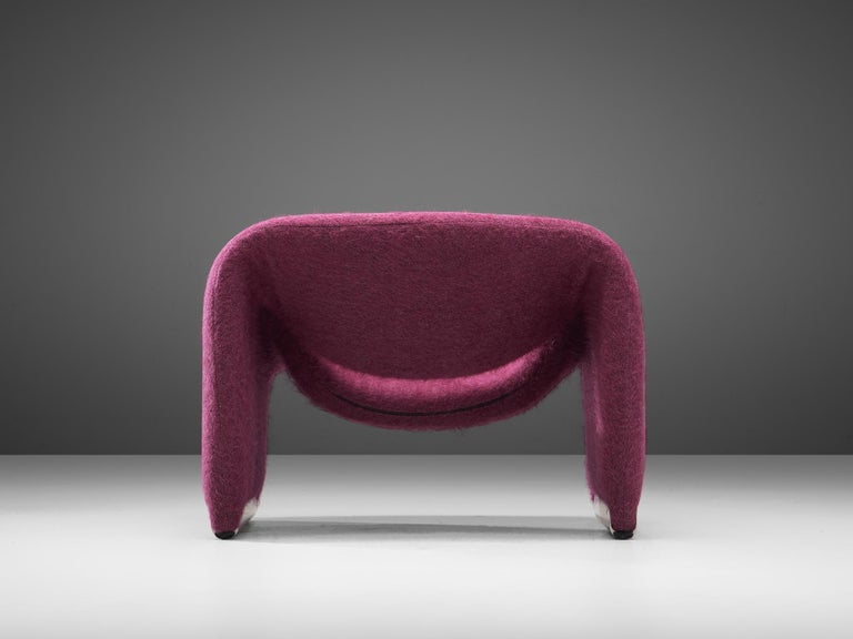 Post-Modern Pierre Paulin 'Groovy' Lounge Chairs Customizable in Pierre Frey Wool Upholstery For Sale