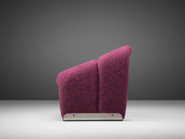 Dutch Pierre Paulin 'Groovy' Lounge Chairs Customizable in Pierre Frey Wool Upholstery For Sale