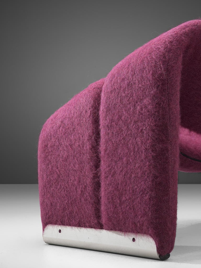 Pierre Paulin 'Groovy' Lounge Chairs Customizable in Pierre Frey Wool Upholstery In Good Condition For Sale In Waalwijk, NL